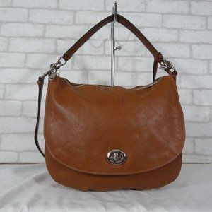 Coach 36762 Brown Leather Shoulder Bag Hobo Tote